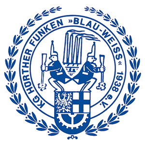 KG Hürther Funken Blau-Weiss e.V. Retina Logo