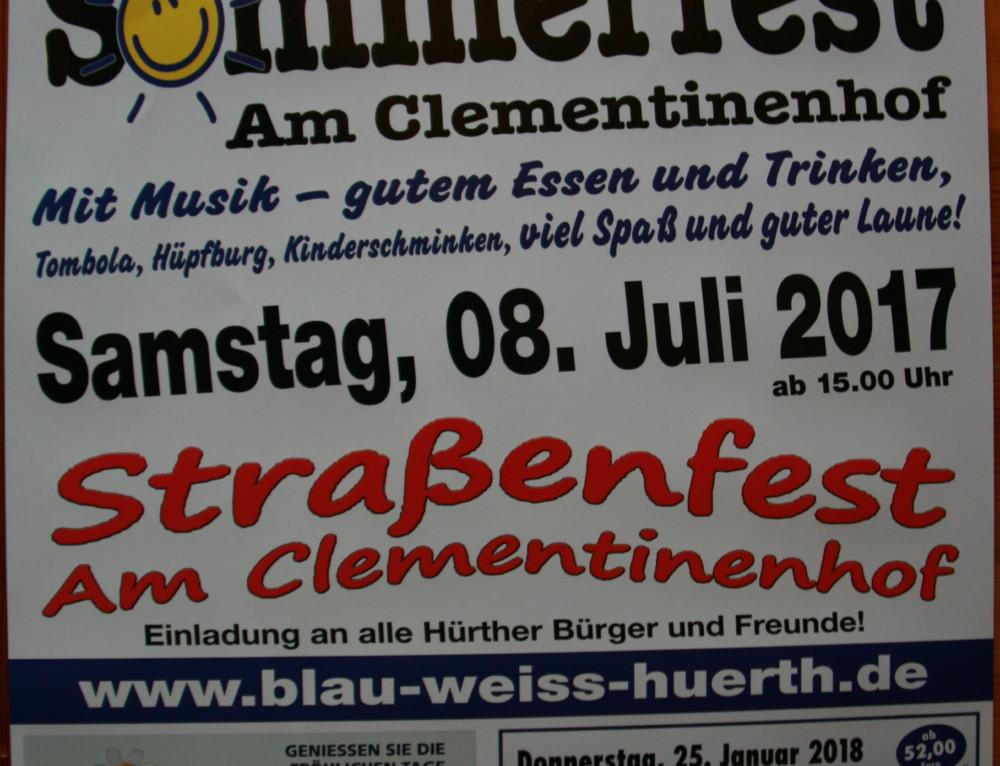 Sommerfest der KG Hürther Funken Blau- Weiss